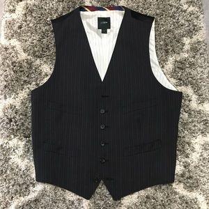 J. Crew Dark Blue/Gray Pinstripe Vest